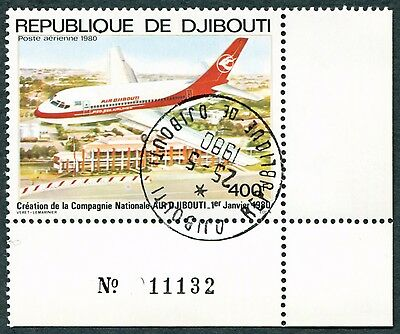 DJIBOUTI 1980 400f SG782 used NG Foundation of Air Djibouti AIRMAIL STAMP a#W29