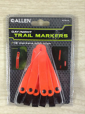 Allen Trail Markers Day Night Blaze Orange 12 Markers With Clips