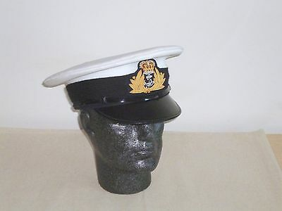 Royal Navy Officer's Service Cap & Badge. Size 57cm.