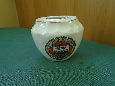 South Shields Crest - Decorative Vase  - Arcadian Crested China