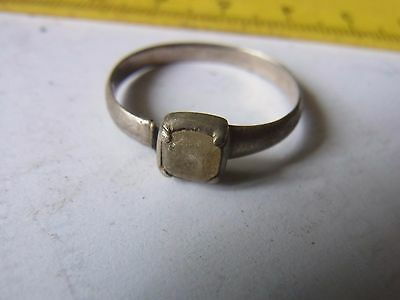 Old Silver Ring With Stone