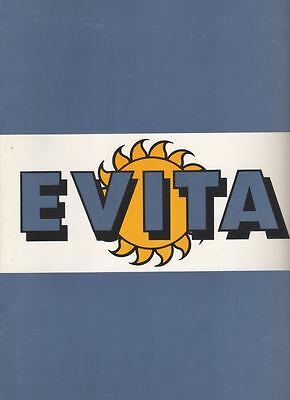 """Evita"" Souvenir Program 1992  National Tour  Valerie Perri & John Herrera"