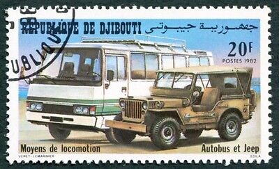 DJIBOUTI 1982 20f SG853 used FG NH Transport Bus and Jeep a #W29