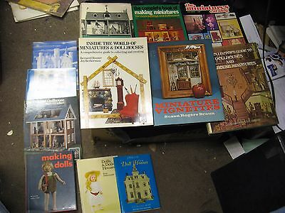 12 Different Dollhouse and Miniature Books Some Vintage