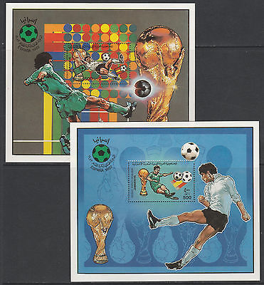 Libya 4341 - 1982 WORLD CUP FOOTBALL 2 perf m/sheets unmounted mint