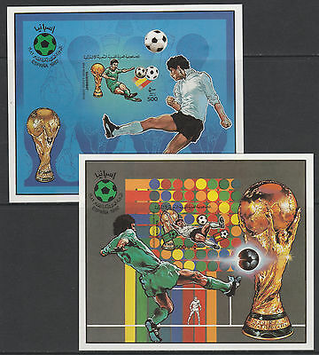 Libya 4342 - 1982 WORLD CUP FOOTBALL 2 imperf m/sheets unmounted mint