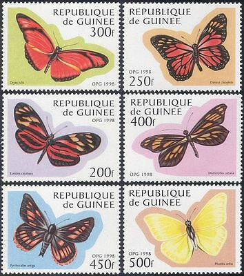 Guinea 1998 Butterflies/Insects/Nature/Conservation/Butterfly 6v set (b4534)