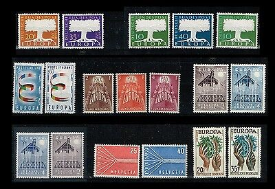 Cept Europa 1957 ** annata completa MNH beautiful and complete collection