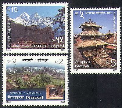 Nepal 2001 Mountains/Nature/Tourism/Fort/Temple/Buildings/Architecture 3v n37200
