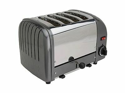 Dualit 4-Slice Manual Pop-Up Toaster. Black/chrome. 120 Volt