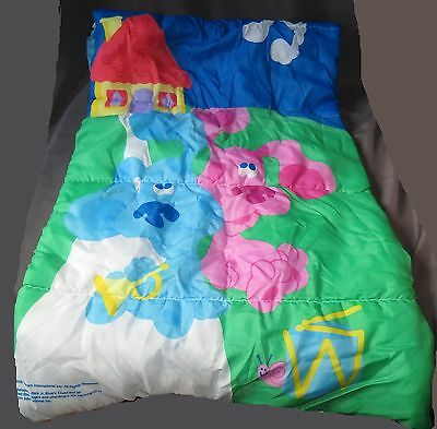 t11 Vintage Blues Clues & Magenta TV Show Sleeping Bag Nickelodeon 2000