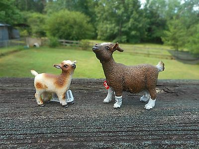 GOATS by Schleich; NEW 13716, 13715 goat/farm animals/toy