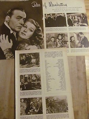 Tales of Manhattan, Rita Hayworth, Charles Boyer, Three Page Vintage Clipping