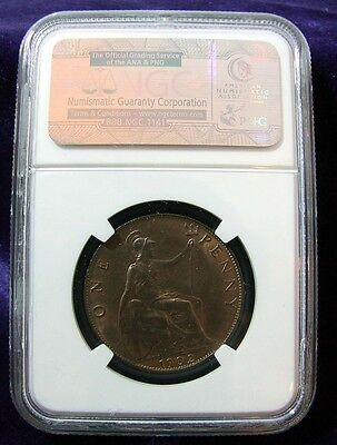 NGC 1902 Great Britain High Tide Penny MS63 BN - Much Lustre - STUNNING