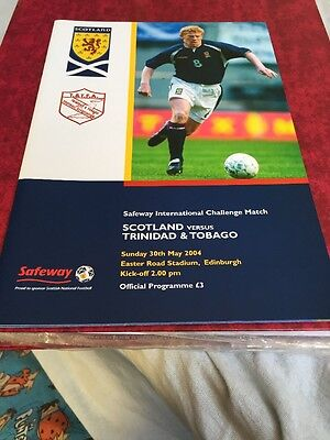 Scotland V Trinidad And Tobago 30th May 2004 Friendly Match