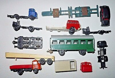 TT scale 1/120 car truck part lot passenger wagon Zeuke BTTB 2 axle boogie