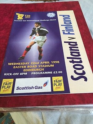 Scotland V Finland 22nd April 1998 Friendly Match