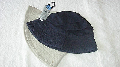 Next 3-6 years 2x SUN HATS *BNWT* New Navy Stone Summer Holiday Boys Hat 3-4-5-6
