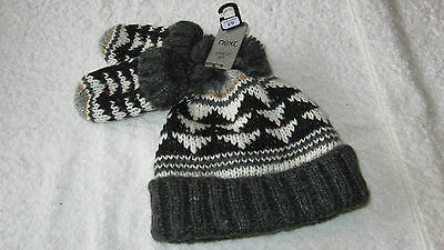 Next 3-4 years GEOMETRIC PATTERNED HAT & MITTENS *BNWT* New Set Boys Winter