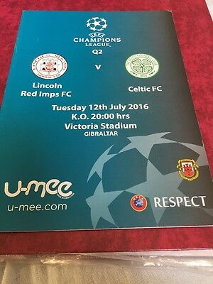 Lincoln Red Imps V Celtic 12th July 2016 Champions League Qualifier Official