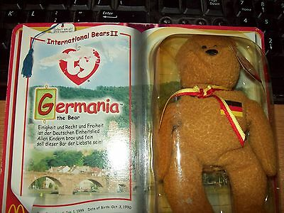 Ty Beanie Babies Collection  Germania The Bear Date Of Birth 10-03-1990 Retired