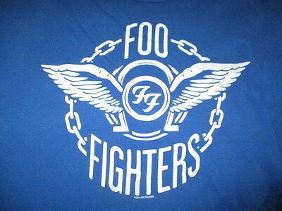 "Retro FOO FIGHTERS ""FF"" (XL) T-Shirt BLUE"