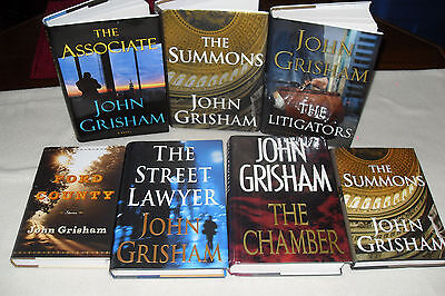 Nice Bundle of 7 Hard cover Mystery by JOHN GRISHAM    free s/h CAN