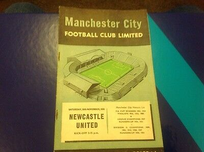 Football Programme Manchester City V Newcastle 1956/57