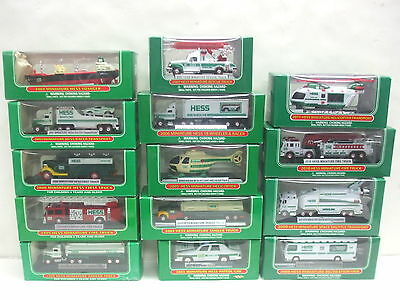 Hess Mini Trucks Lot of 14 Trucks 1998 - 2011 - All New in Original Boxes