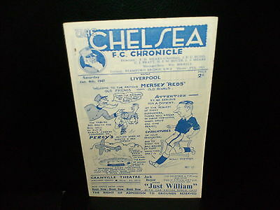 1946/1947   Chelsea   V.   Liverpool(  Champions )    Division   1