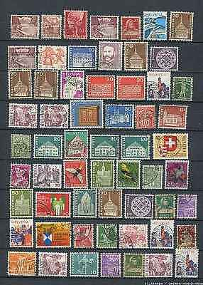 Switzerland : Large lot with older stamps - used