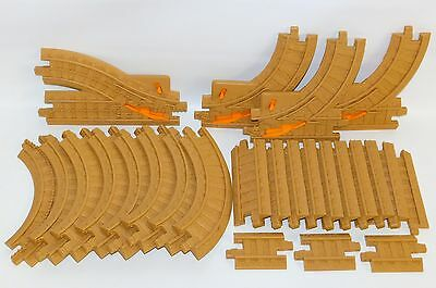 25pc Lot Tan Brown Train Track for GeoTrax Curve Straight Y Switch Fisher Price
