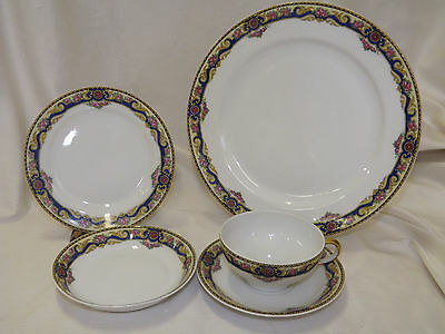 Vintage Bawo Dotter Limoges France 59 pc Dinnerware Set BWD154