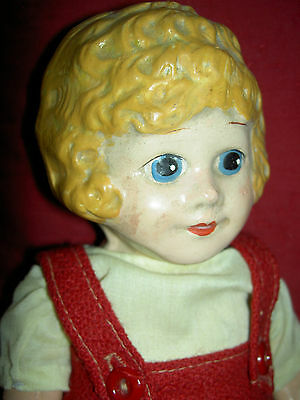 """Antique 1920s composition & cloth, comic """"Little ORPHAN ANNIE"""" doll and book"""
