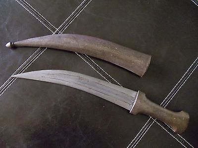 Antique -  All Steel Whole Persian Jambiya with Danascus Steel Blade