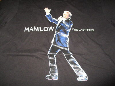 """BARRY MANILOW """"One Last Time"""" Concert Tour (MED) T-Shirt"""