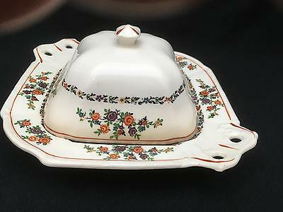 Antique Porcelain / China Butter or Cheese Dish w Cover TS&T PARAMOUNT IVORY