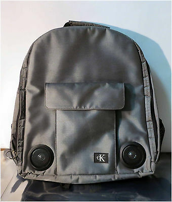 Calvin Klein Grey Back pack w/ Built In Speakers