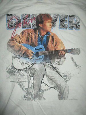 Vintage 1993 JOHN DENVER Concert Tour (XL) T-Shirt ROCKY MOUNTAIN