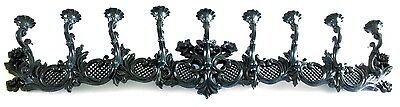 Syroco 1966 Black Plastic Dramatic 4 Foot 9 Taper Candle Wall Sconce Candelabra
