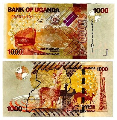 2015 Uganda 1000 Shillings Uncirculated One Note