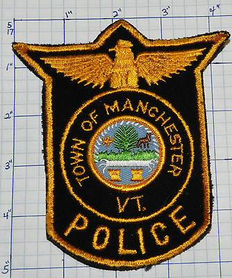 Vermont, Manchester Police Dept Vintage Version 2 Patch