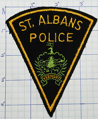 Vermont, St. Albans Police Dept Felt Version 1 Patch