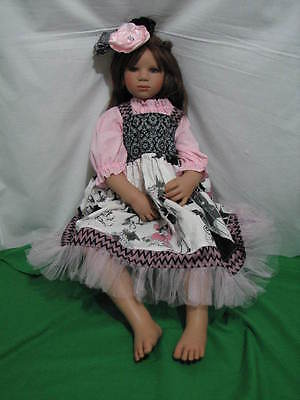 """Annette Himstedt """"elina"""" Sitting Doll 2004 Le 377 Playstreet 33"""" Tall Redressed"""