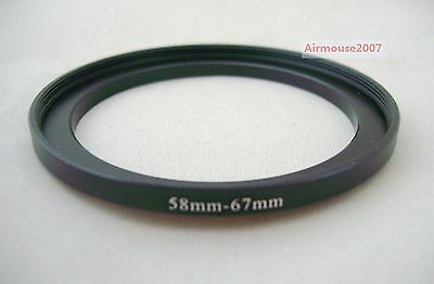 58-67 58mm-67mm Step Up Ring Adapter 58mm Lens To 67mm Accessory Filter Hood
