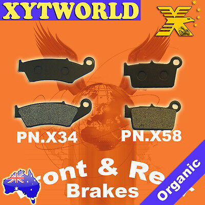 FRONT REAR Brake Pads YAMAHA YZ 250 R S T V W 2T 2003 2004 2005 2006 2007