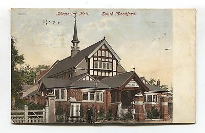 South Woodford, Essex - Memorial Hall - 1913 used postcard
