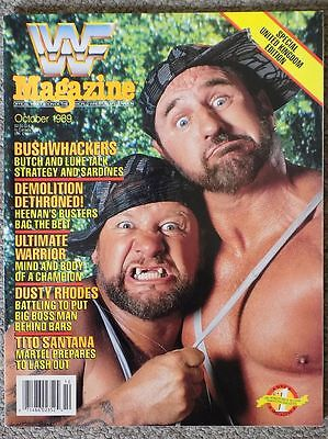 Wwf Magazine October 1989 Bushwhackers Cover Wrestling Wwe Wcw Hasbro Vintage