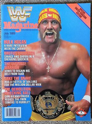 Wwf Magazine July 1989 Hulk Hogan Cover Wrestling Wwe Wcw Hasbro Vintage Book