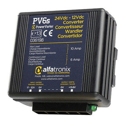 Alfatronix PV6S 24VDC to 12VDC Converter Non-Isolated (Common Earth)